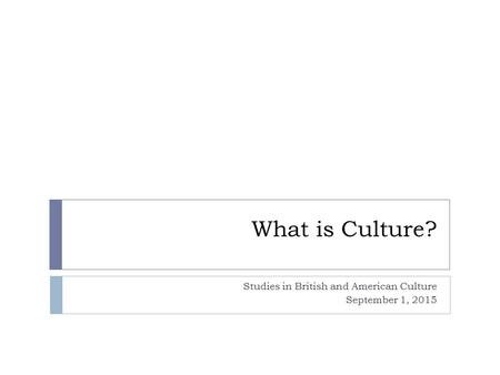 Studies in British and American Culture September 1, 2015