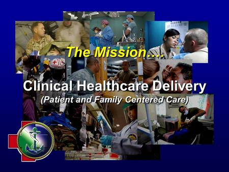 The Mission…. Clinical Healthcare Delivery (Patient and Family Centered Care)