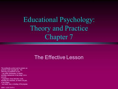 fundamentals of educational psychology