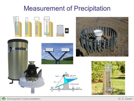 Atmospheric InstrumentationM. D. Eastin Measurement of Precipitation.