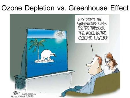 Ozone Depletion vs. Greenhouse Effect. The Ozone Layer Ultraviolet radiation is a part of the solar radiation spectrum. It causes sun-burn and is deadly.