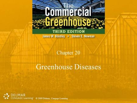 © 2009 Delmar, Cengage Learning Chapter 20 Greenhouse Diseases.
