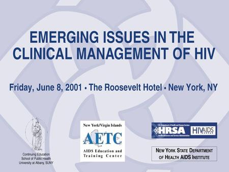 Managing Hard-to-Manage Patients Sharon Stancliff, MD Medical Consultant New York State Department of Health AIDS Institute New York, NY.