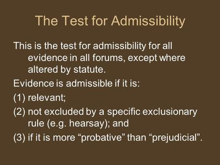 Do admissible statements affect the criminal justice process