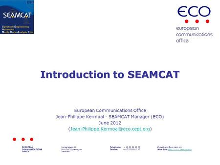 Introduction to SEAMCAT