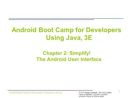 Android Boot Camp for Developers Using Java, 3E