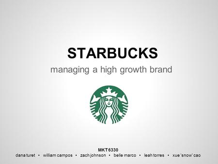 managing a high growth brand