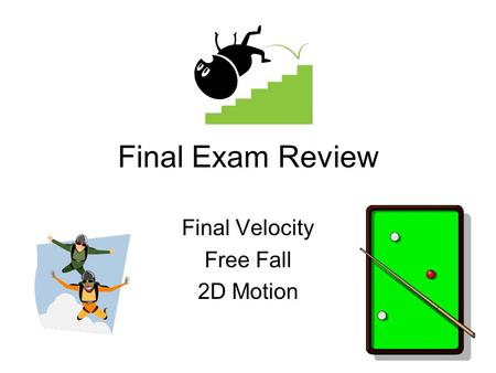 Final Velocity Free Fall 2D Motion