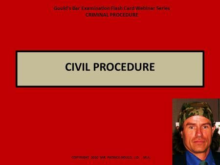 Civil criminal procedure
