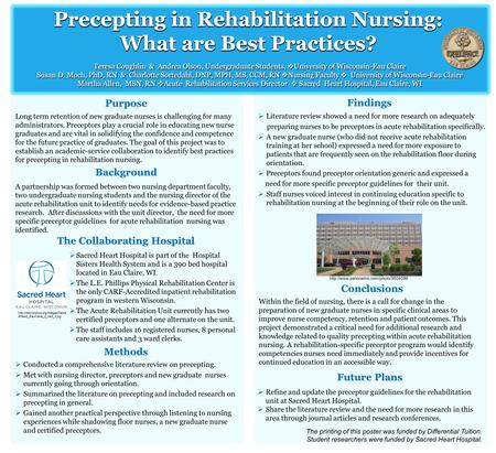 Background Purpose Findings A partnership was formed between two nursing department faculty, two undergraduate nursing students and the nursing director.