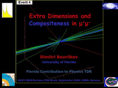 Extra Dimensions and Compositeness in μ + μ - Dimitri Bourilkov University of Florida Florida Contribution to Physics TDR SUSY/BSM Review, CMS Week, September.