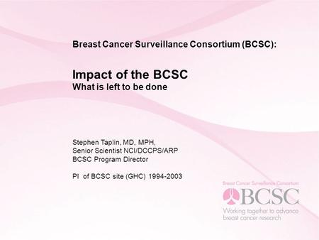 Surveillance for breast cancer