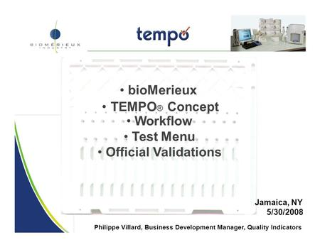 • TEMPO® Concept • Workflow