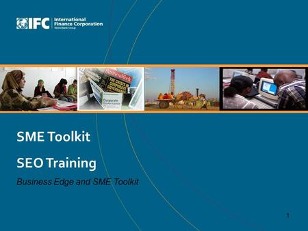 SME Toolkit SEO Training Business Edge and SME Toolkit 1.