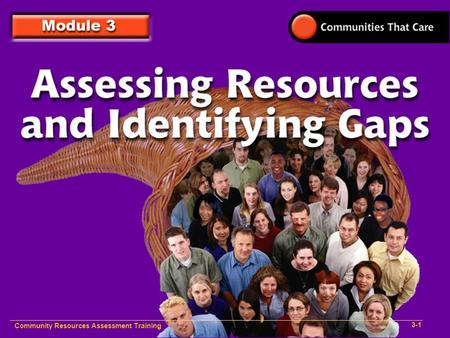 Community Resources Assessment Training 3-1. Community Resources Assessment Training 3-2.