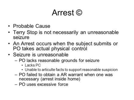 arrest elements essay Start studying laws of arrest learn vocabulary, terms, and more with flashcards, games, and other study tools.