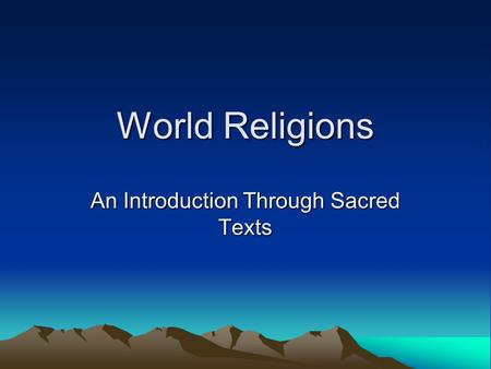 World religions text questions 1