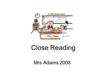 Close Reading Mrs Adams 2008. Imagery Simile Metaphor Personification Imagery – or figures of speech – means any of the three terms above YOU SHOULD.