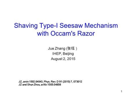 Shaving Type-I Seesaw Mechanism with Occam's Razor