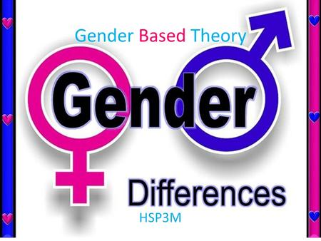 Gender Based Theory HSP3M. Basic Beliefs Carol Gilligan theorized that moral development differed between both sexes. She believed male moral development.