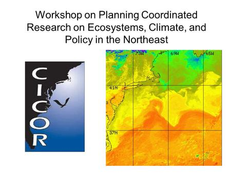 Workshop on Planning Coordinated Research on Ecosystems, Climate, and Policy in the Northeast.