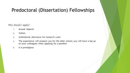mellon dissertation research fellowships Predoctoral dissertation fellowships a w mellon postdoctoral fellowship program the a w mellon postdoctoral fellowship supports research in the.