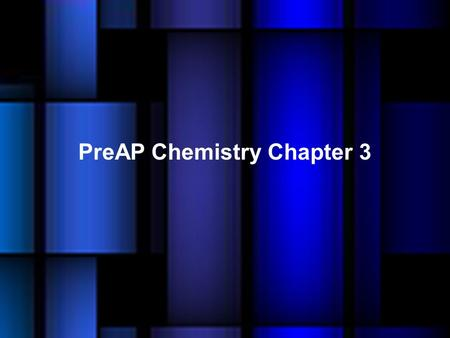 PreAP Chemistry Chapter 3. Democritus was the early Greek philosopher who is credited with the concept of the atom (atomos) –which means invisible.