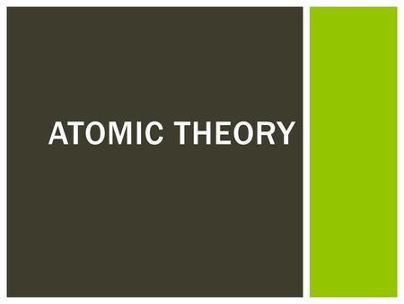 ATOMIC THEORY.  Which shows a a correct image of what an atom looks like? How do you know? DO NOW: 1 2 3 4.