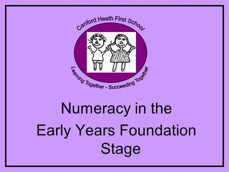 Numeracy in the Early Years Foundation Stage. Aims of the session To explain numeracy in the Foundation Stage To understand what and how it is taught.