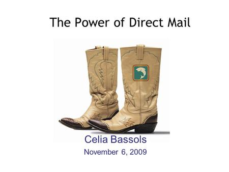 The Power of Direct Mail Celia Bassols November 6, 2009.