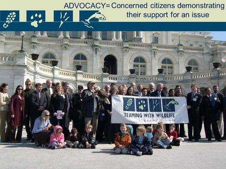 Concerned citizens demonstrating their support for an issue ADVOCACY=