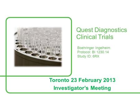 Quest Diagnostics Clinical Trials