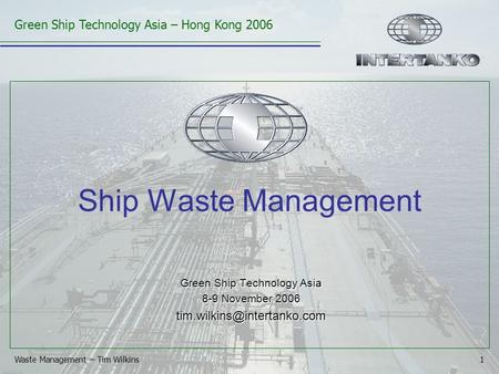 Click to edit Master title style Click to edit Master text styles Second level Third level Fourth level Fifth level 1 Green Ship Technology Asia – Hong.