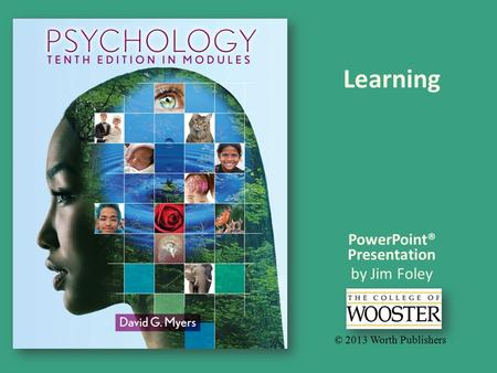 PowerPoint® Presentation by Jim Foley © 2013 Worth Publishers Learning.