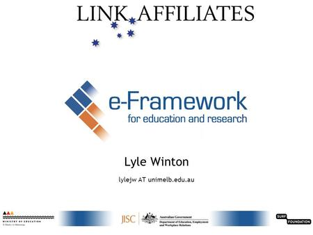 Linking research & learning technologies through standards 1 Lyle Winton lylejw AT unimelb.edu.au.