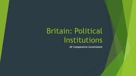 Britain: Political Institutions AP Comparative Government.