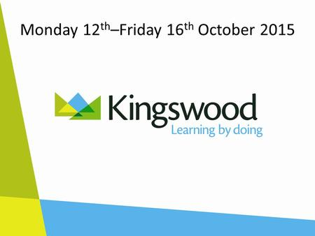 Monday 12 th –Friday 16 th October 2015. Welcome Year 5.