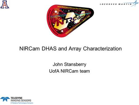 NIRCam DHAS and Array Characterization
