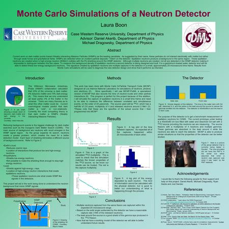 Monte Carlo Simulations of a Neutron Detector Laura Boon Case Western Reserve University, Department of Physics Advisor: Daniel Akerib, Department of Physics.