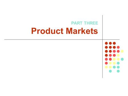 PART THREE Product Markets. Chapter 6: Businesses and Their Costs.