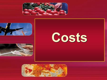 Costs. Short-run costs Total cost Output (Q) 0 1 2 3 4 5 6 7 TFC (R) 12 Total costs for firm X.