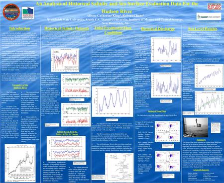 An Analysis of Historical Salinity and Sea Surface Evaluation Data For the Hudson River Alison-Catherine King 1, Robert Chant 2 1 Humboldt State University,