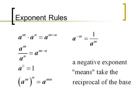 Exponent Rules. Simplify each algebraic expression. Do NOT leave negative exponents.