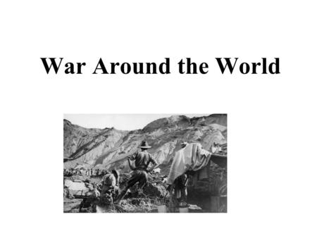 War Around the World. Western FrontEastern Front Ottoman Empire U.S.A 1 2 3 4 Areas of Conflict during World War I.