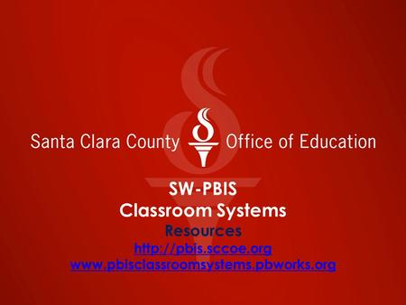 SW-PBIS Classroom Systems Resources