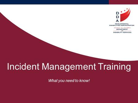 Incident Management Training