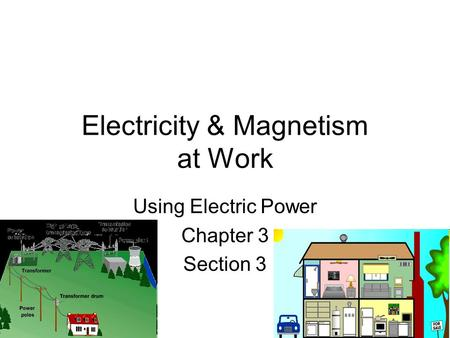Electricity & Magnetism at Work Using Electric Power Chapter 3 Section 3.