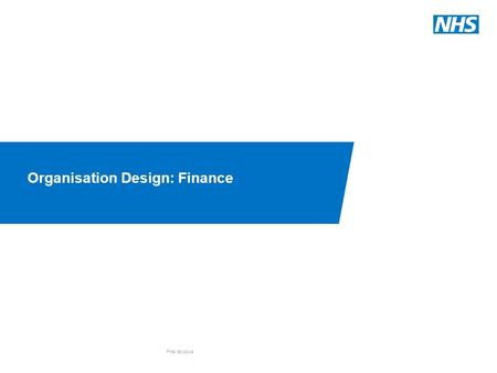 Organisation Design: Finance