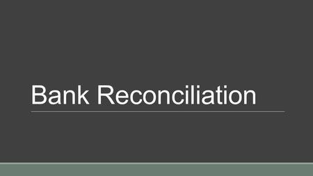 how to make bank reconciliation statement ppt