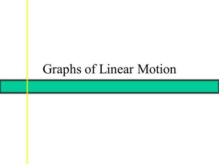 Graphs of Linear Motion. Graph of v vs. t vovo  t = 2  v = 4 Slope = acceleration.